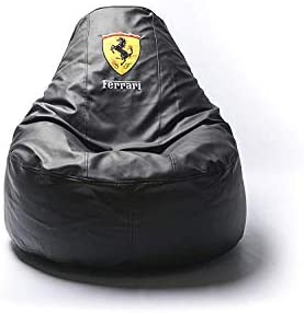 Ferrari Supercar Comfortable Kids Adult Game Outdoor Indoor Lounge Chair Beanbag Cover Without Beans Black