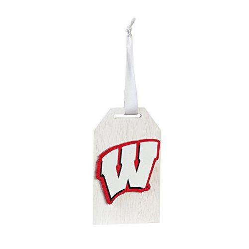 Team Sports America University of Wisconsin-Madison Team Logo Gift Tag - Ornaments Pembroke