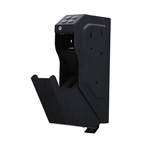 googic Safe Box for Hand Gun,Gun Security Box Gun Vault Handgun Safe,with Key, Easy,Speed