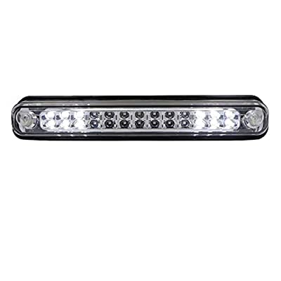 Rear Roof Center LED Third 3rd Brake Cargo Light Assembly High Mount Brake Tail Light Fit for 1988-1998 Chevy Silverado/Chevy GMC C/K C10 1500-3500/GMC Sierra (Chrome Housing Clear Lens): Automotive