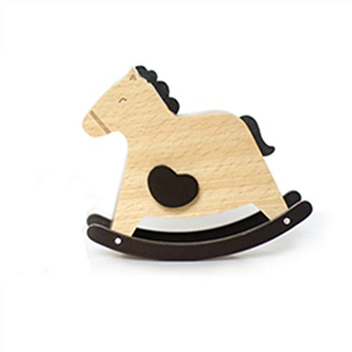 Doppelt Wooden Musical Box Classic Antique Carved Wood Music Boxes Birthday for Kids Children Girls (Rocking Horse) (Antique Wooden Rocking Horse)