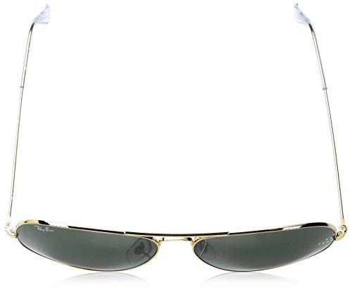 Ray-Ban Lunettes De Soleil Aviateur Classique Dans Arista Or Gris Vert Rb3025 001 62 Or (Gold)
