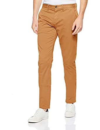 French Connection Men's NEO Sergio Slim Chino Pant, Tobacco, Thirty