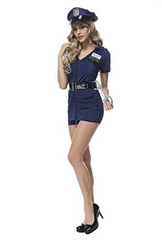 Sexy Halloween Cosplay Maid Costume Police Woman Uniform Fancy Dress Jumpsuit (Police Fancy Dress Women)