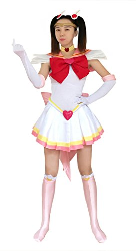 DAZCOS US Size Adult Super S Chibi USA Moon Fighting Cosplay Costume (Women M)
