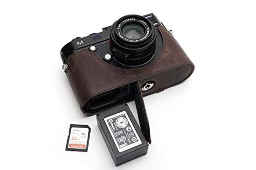 Handmade Genuine Real Leather Half Camera Case Bag Cover for Leica M M240 M240-P M246 M-P MM MP M262 Dark Brown Color