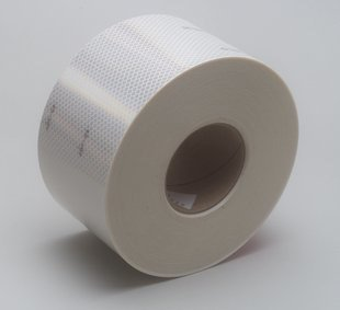 - 3M Diamond Grade 983-10 ES White Reflective Conspicuity Tape - 4 in Width x 0.014 to 0.018 in Thick - 67826 [PRICE is per ROLL]