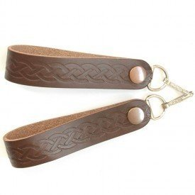 Broncos Brown Leather - Celtic Brown Leather Sporran Suspenders -Lose the Chain