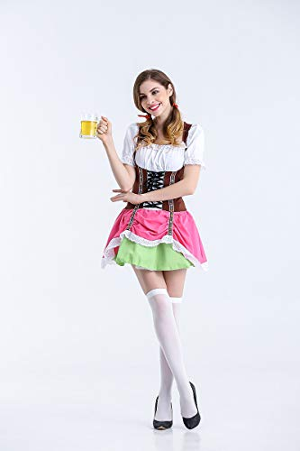 Ruanyi Beer Girl Costumes New German Beer Dress Halloween Cosplay Maid Service for Women (Size : L)