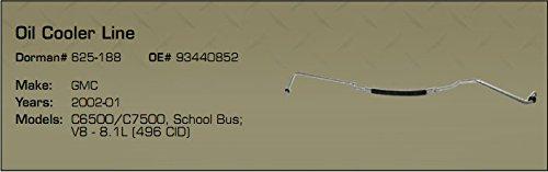 GMC Medium Duty C6500/C7500, Medium Duty School Bus; V8-8.1L (496 CID) Oil Cooler Line 2002-01 by A&I,FT
