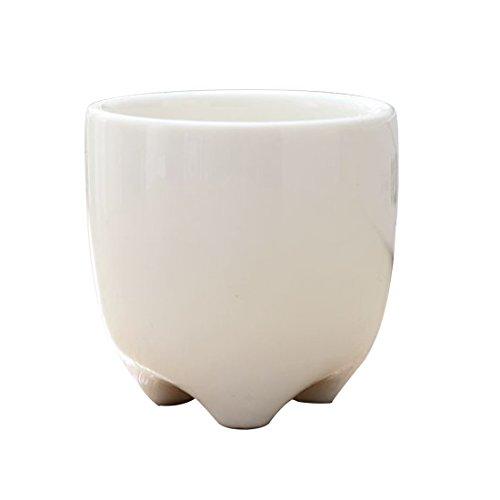 Plants Flower Pot Ceramic Flowerpot White Porcelain Home Dec