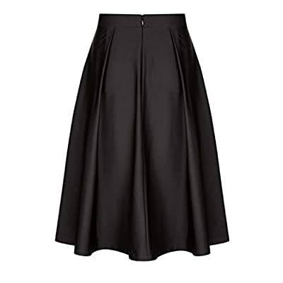 Ruffled Cocktail Swing Skirt for Women Vintage Solid Princess A-line Skirts