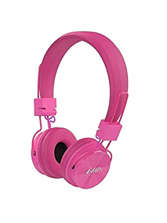 4387c568fa7 NIA X3 STEREO BLUETOOTH WIRELESS HEADPHONES WITH MIC SUPPORT TF CARD FM  RADIO PINK