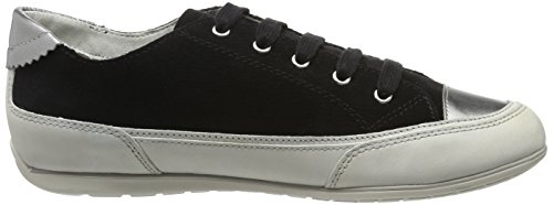 Moena Sneakers Basses Off Whitec9876 Black D Femme New Geox Noir vqAfS
