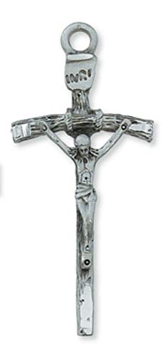 (Hail Mary Gifts Pewter PAPAL Crucifix, Pewter PAPAL Crucifix with 24
