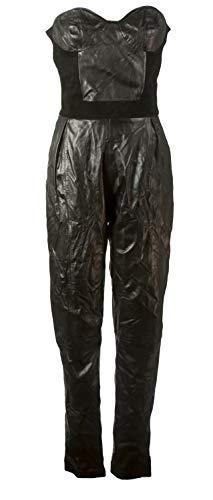 J. LINDEBERG Women's Ramona Leather Jumpsuit, Black