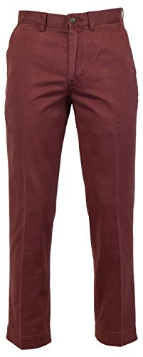 Ralph Lauren Polo Mens Classic Fit Flat Front Chino Pants (Purple, - Lauren Ralph Zippered