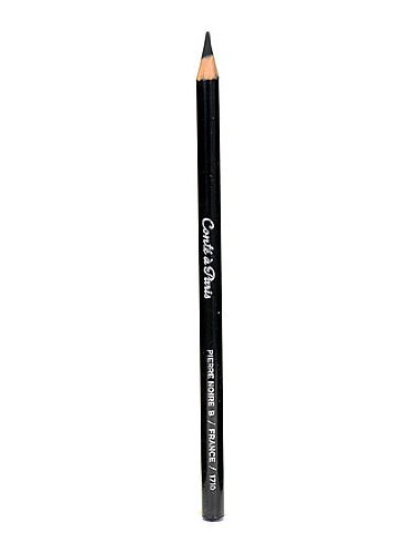 Conte Crayons Esquisse Drawing Pencils black B each [PACK OF 12 ] - Conte Drawing