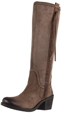 "Women's Nine West Vintage America Riding Boots ""Thora"" - Grey Leather (10, Grey Leather)"