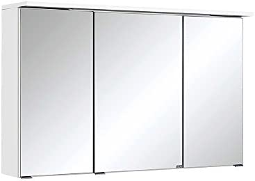 3D armario con espejo para baño en colour blanco diseño Pharao24 ...