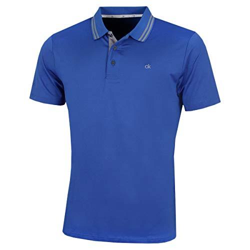 Calvin Klein Golf Men's Madison Polo Shirt, Royal, - Golf Shirt Ls