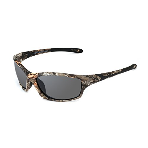 Camo Sports Polarized Sunglasses, 100%UV Protection Unbreakable Sports Glasses for Men or Women Cycling, Baseball Riding, Driving, Running, Golf,Outdoor - Sunglasses Camo Polarized