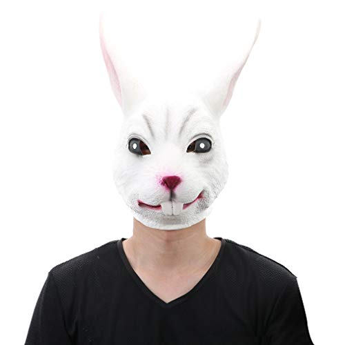 Unisex Deluxe Latex Rabbit Mask - Adult Animal Mask, used for sale  Delivered anywhere in USA
