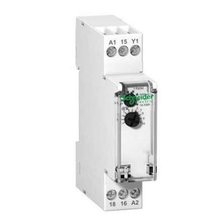 Dropper a9e16065  Delay Relay Switch On Order Upheld 1of, Acti9, RTA, 24-240vca, 24VAC, White Schneider Electric