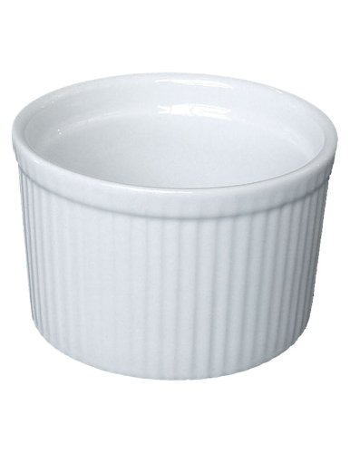 Bia Cordon Bleu White Porcelain 10-Ounce Tall Individual Souffle, Set of 4 by BIA Cordon Bleu