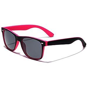 Classic Retro Fashion 2 Tone Sunglasses - Black & Pink