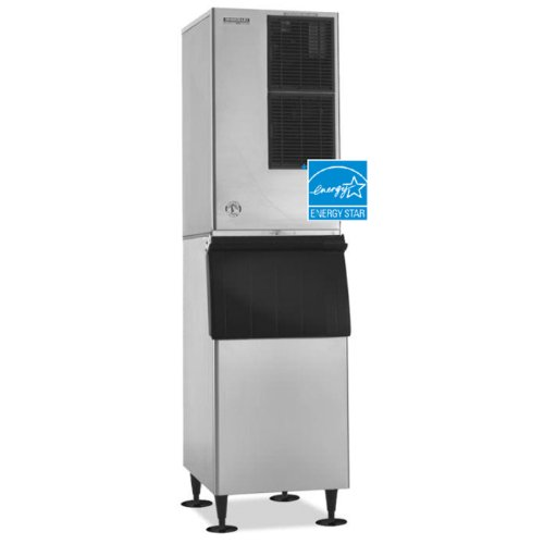 Hoshizaki-KM-600MAH-22-Energy-Star-Rated-Slim-Line-Modular-Ice-Maker-With-592-lbs-Daily-Ice-Production-H-GUARD-Plus-Antimicrobial-Agent-Protection-Crescent-Ice-Cubes-Stainless-Steel-Evaporator-CycleSa