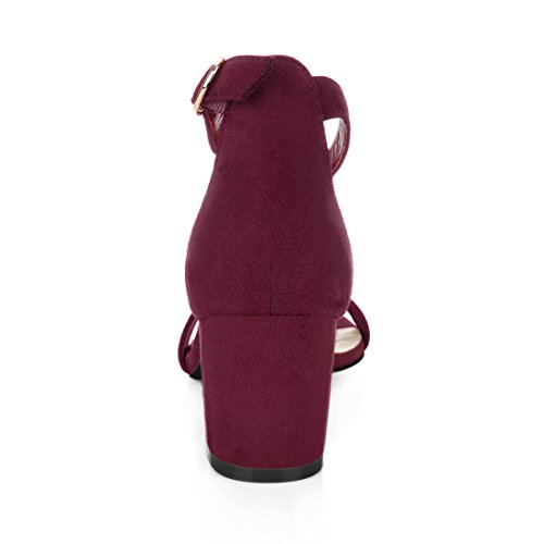 Sangle de Allegra K Bordeaux cheville femme Z5qfqx