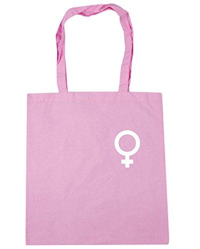 litres symbol Pink 10 x38cm HippoWarehouse Beach Female Gym pocket Classic 42cm Bag Shopping Tote SPOTq