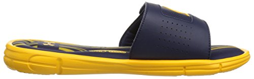 Under Armour Mens Ignite V Collegiale Slide Steeltown Gold / Midnight Navy / Steeltown Gold