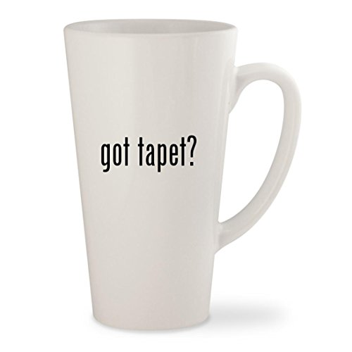 got tapet? - White 17oz Ceramic Latte Mug Cup (Rosa, Gold Und Schwarz)