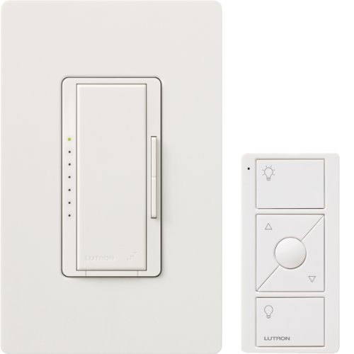 WH Maestro Wireless 600-Watt Multi-Location Dimmer with Controller and Wallplate, White ()