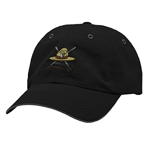 Speedy Pros Richardson Running Cap Military Drill Instructor Hat Embroidery Veteran Polyester Hat Hook & Loop - Black/Charcoal, Design Only