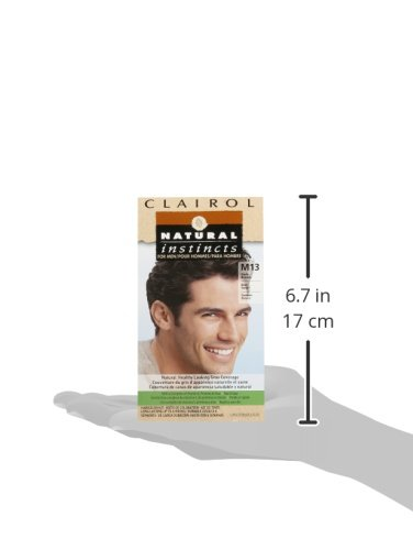 Clairol Natural Instincts Semi-Permanent Hair Color Kit For Men, 3 Pack, M13 Dark Brown Color, Ammonia Free, Long Lasting for 28 Shampoos by Clairol (Image #11)
