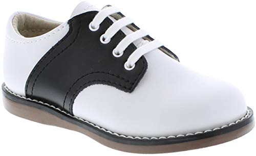 FOOTMATES Cheer Laceup Saddle White/Black - 8402/13 Little Kid M/W -