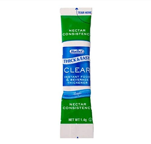 Thick and Easy Clear Nectar Consistency Instant Food and Beverage Thickener Sticks, 1.4 Gram -- 100 per - Thickener Nectar