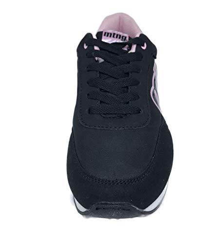 Negro MTNG Negro Negro C42957 Mujer para Raspe Minerva Zapatillas Negro 56406 Nylon SwqYSU