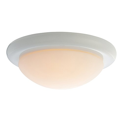 One Light Bowl Kit - Monte Carlo MC18WH-B Matte Opal 1-Light Ceiling Fan Kit, White Finish