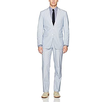 Adolfo Men's Pinfeather Twill Modern Fit Suit at Men's Clothing store