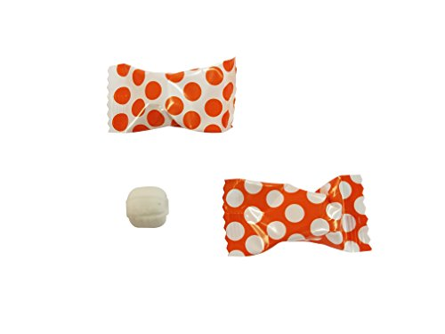 Buttermints 100 Count Wrapped in Orange Polka Dot Candy Wrapper - Mint -