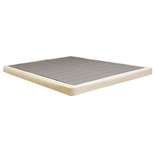 Oliver and Smith Standard Height 8'' Foundation Box Spring Replacement, Twin, White by Smith & Oliver