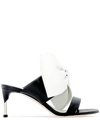 Alexander McQueen Women's 559898Whs461090 Black Leather Sandals