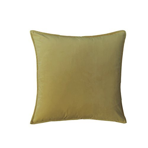HOMEE Pure Color Velvet Velvet Pillow Pillow Cushion Sofa Cushion Large Bed Pillow Back Pad (53 ,50X50,),Mustard color,50X50