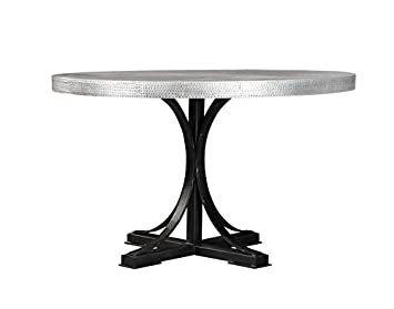Excellent Scott Living Rochelle Collection Zinc Metal Round Dining Table Cjindustries Chair Design For Home Cjindustriesco