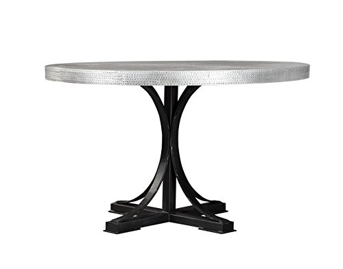 Scott Living Rochelle Collection Zinc Metal Round Dining Table