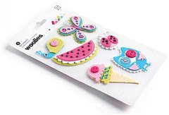 Lemonade Woolies Layered Felt Stickers With Accents-